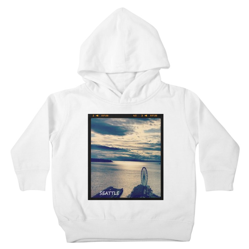 Blue Seattle - you have been there. Kids Toddler Pullover Hoody by terryann's Artist Shop