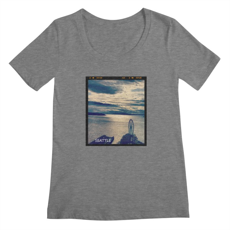 Blue Seattle - you have been there. Women's Scoopneck by terryann's Artist Shop
