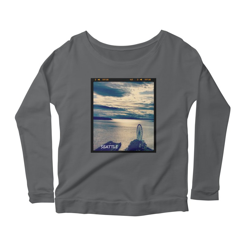 Blue Seattle - you have been there. Women's Longsleeve Scoopneck  by terryann's Artist Shop