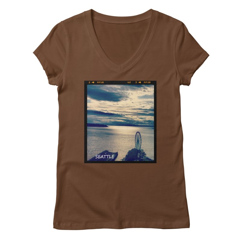 Blue Seattle - you have been there. Women's V-Neck by terryann's Artist Shop