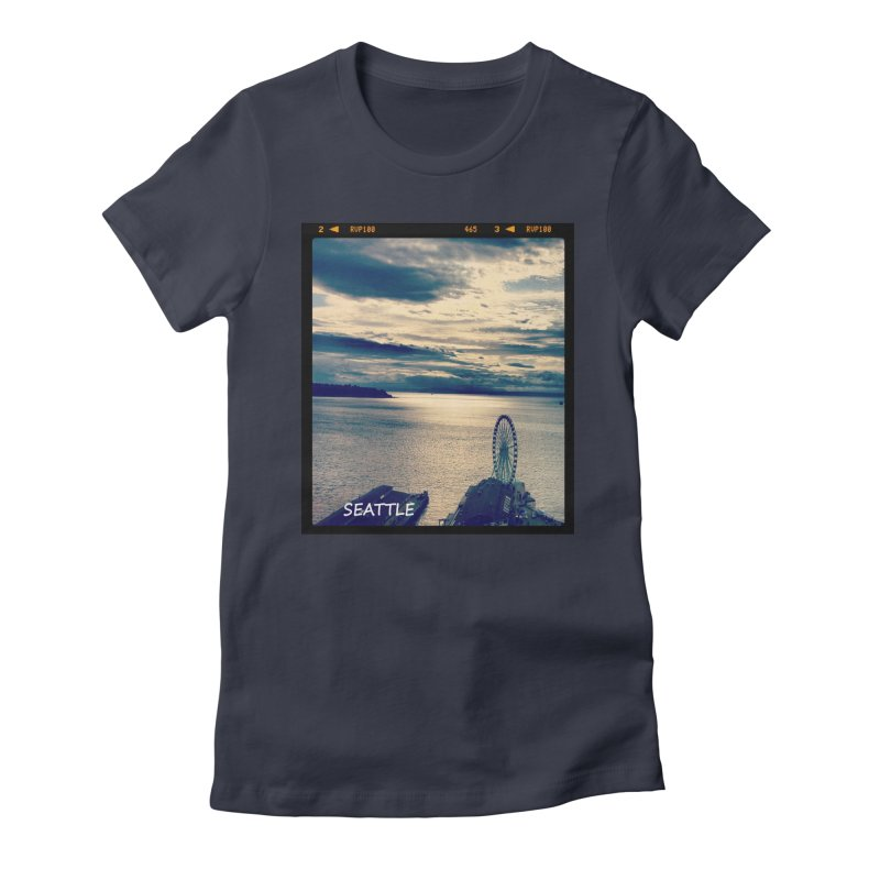 Blue Seattle - you have been there. Women's Fitted T-Shirt by terryann's Artist Shop