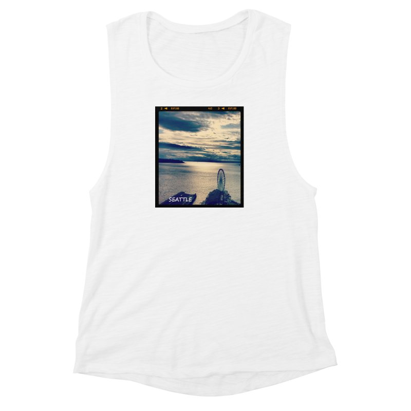 Blue Seattle - you have been there. Women's Muscle Tank by terryann's Artist Shop