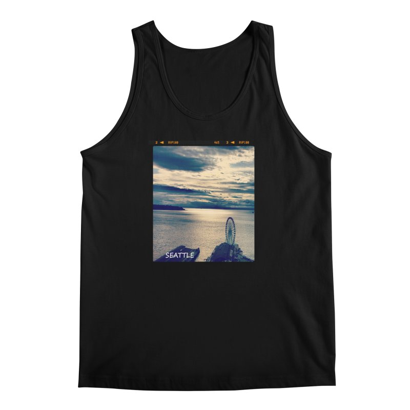 Blue Seattle - you have been there. Men's Tank by terryann's Artist Shop