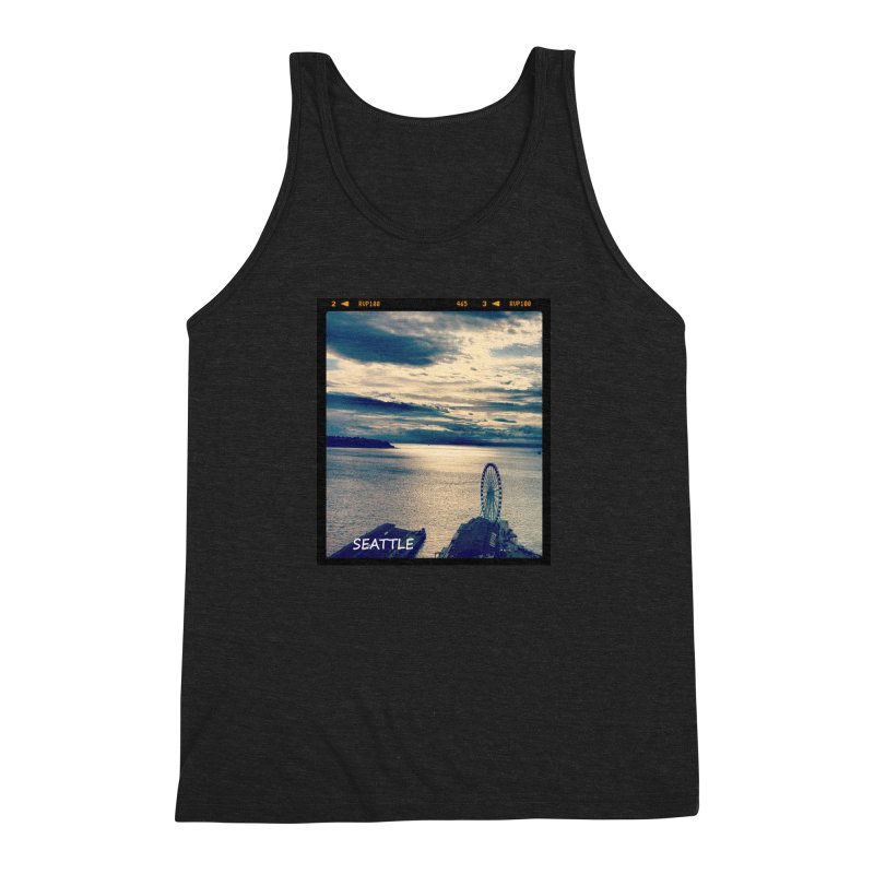 Blue Seattle - you have been there. Men's Triblend Tank by terryann's Artist Shop