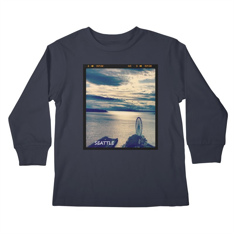 Blue Seattle - you have been there. Kids Longsleeve T-Shirt by terryann's Artist Shop
