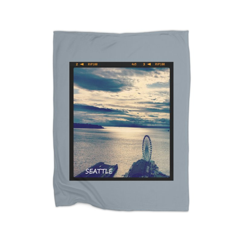 Blue Seattle - you have been there. Home Fleece Blanket by terryann's Artist Shop