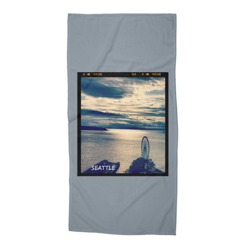 Blue Seattle - you have been there. Accessories Beach Towel by terryann's Artist Shop
