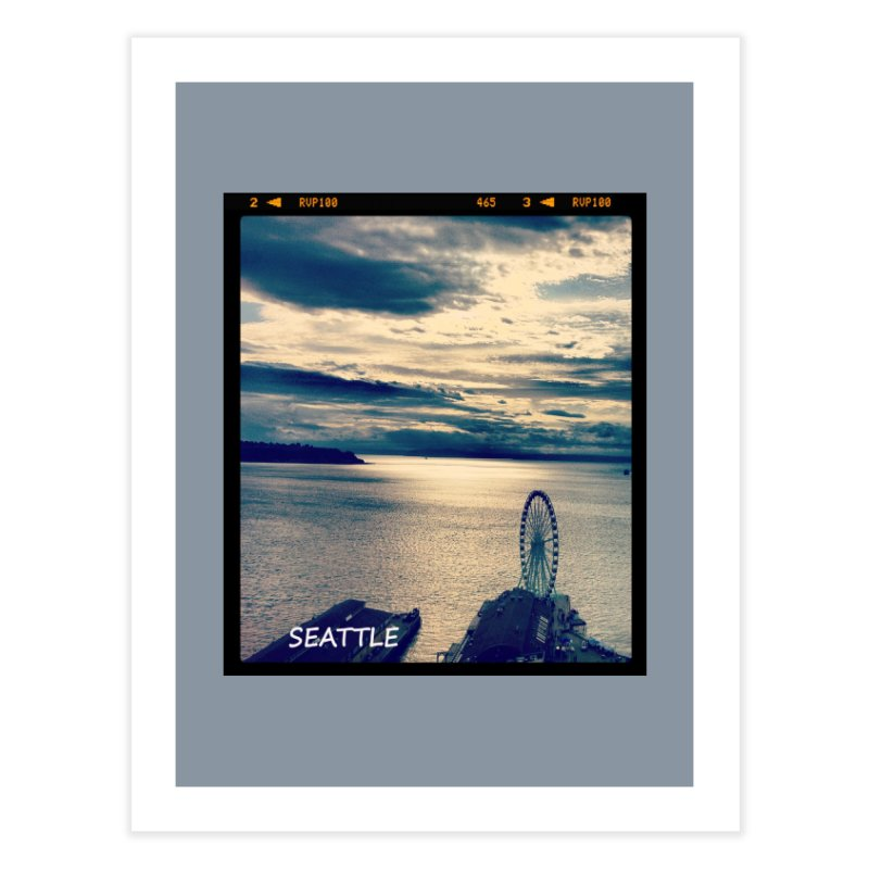 Blue Seattle - you have been there. Home Fine Art Print by terryann's Artist Shop