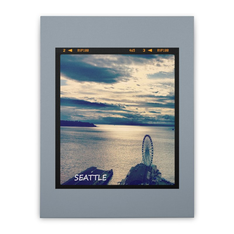 Blue Seattle - you have been there. Home Stretched Canvas by terryann's Artist Shop