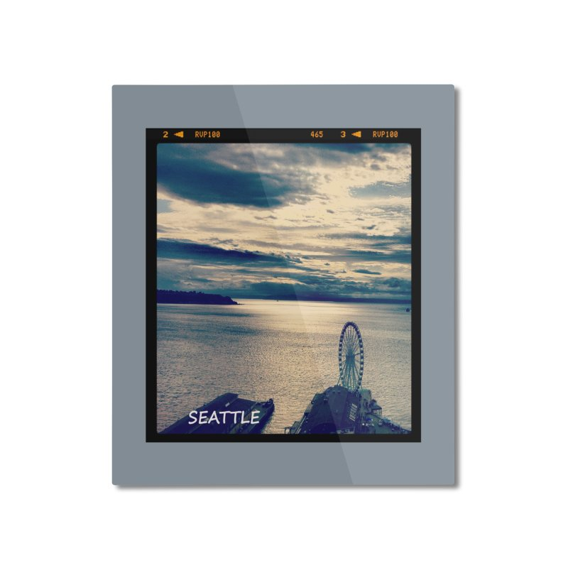 Blue Seattle - you have been there. Home Mounted Aluminum Print by terryann's Artist Shop