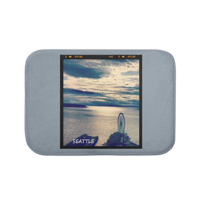 Blue Seattle - you have been there. Home Bath Mat by terryann's Artist Shop