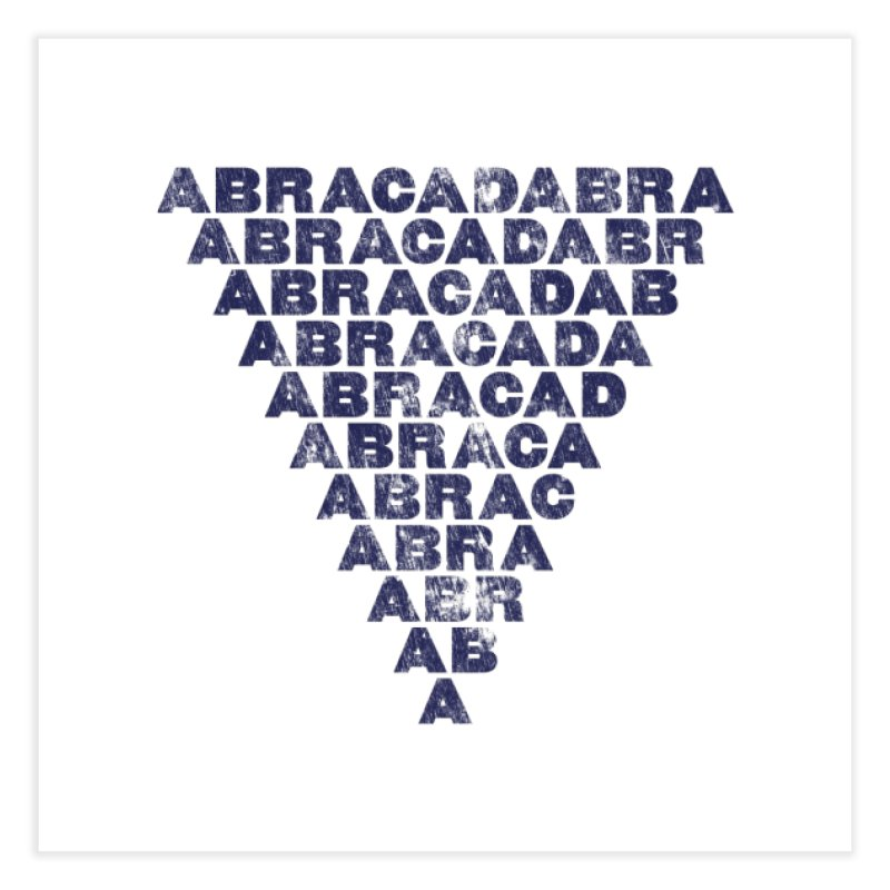 Abracadabra Inverted Triangle Letterpress Style Terry Bains Place