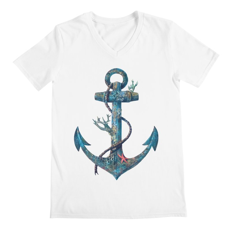 Lost at Sea Men's V-Neck by terryfan