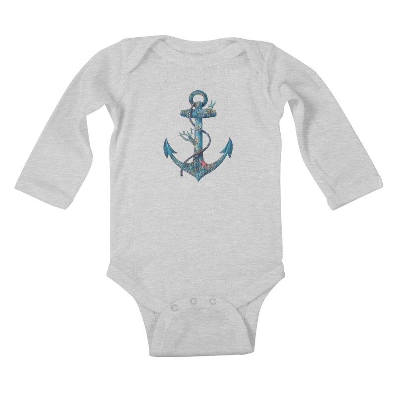 Lost at Sea Kids Baby Longsleeve Bodysuit by terryfan