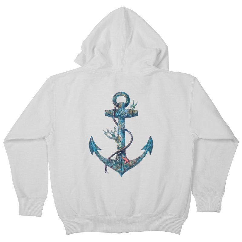 Lost at Sea Kids Zip-Up Hoody by terryfan
