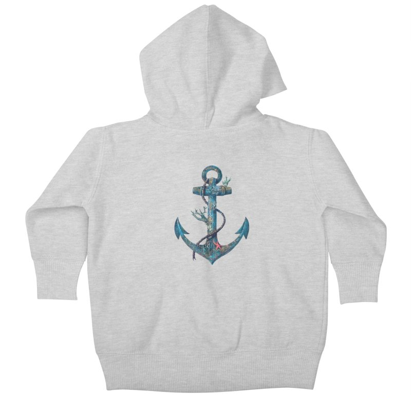 Lost at Sea Kids Baby Zip-Up Hoody by terryfan