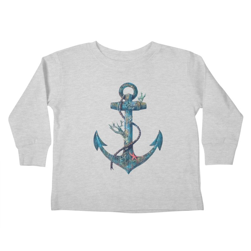 Lost at Sea Kids Toddler Longsleeve T-Shirt by terryfan