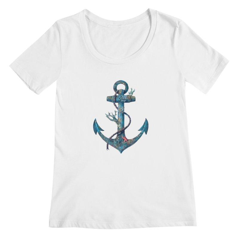 Lost at Sea Women's Scoopneck by terryfan