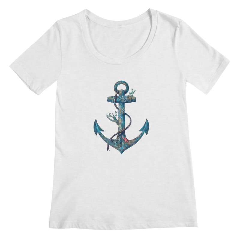 Lost at Sea Women's Scoopneck by terryfan