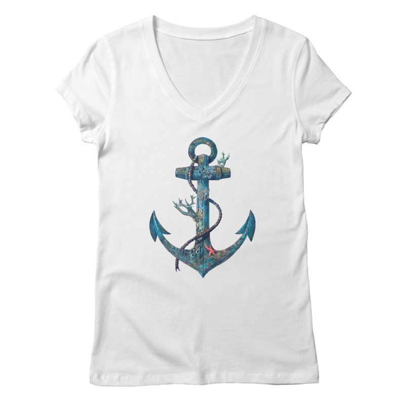 Lost at Sea Women's V-Neck by terryfan