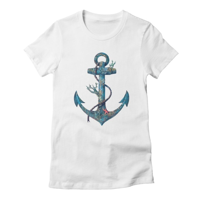 Lost at Sea Women's Fitted T-Shirt by terryfan