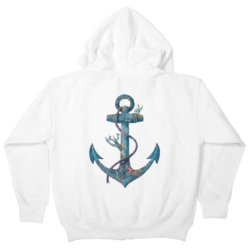Lost at Sea Kids Zip-Up Hoody by terryfan