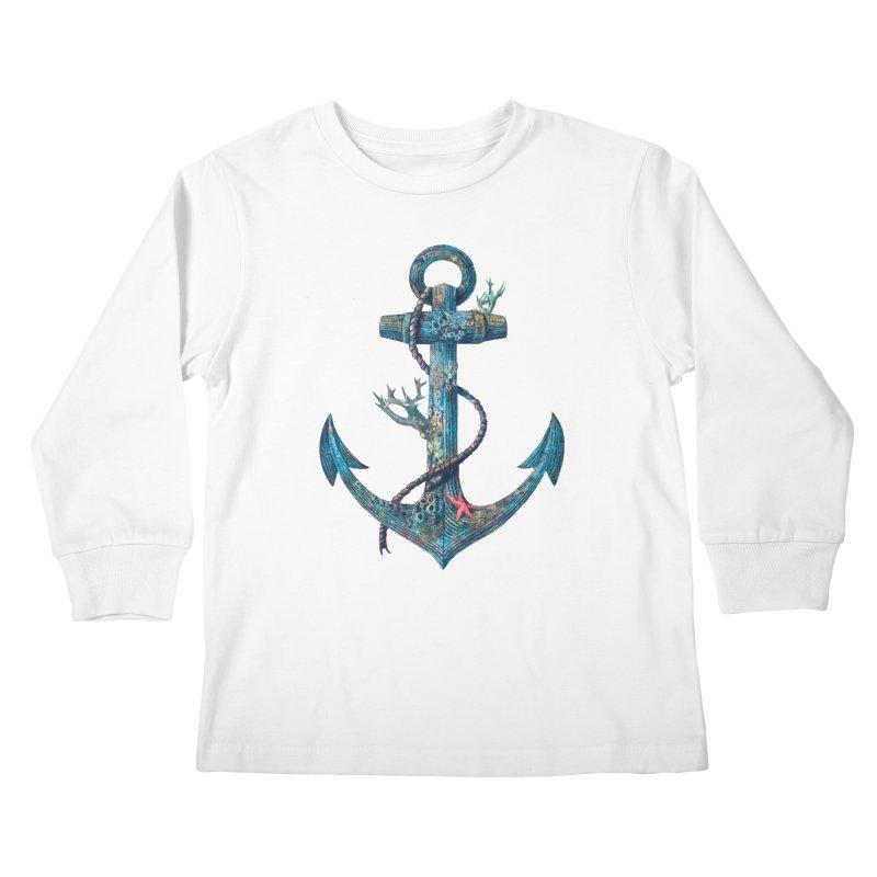 Lost at Sea Kids Longsleeve T-Shirt by terryfan