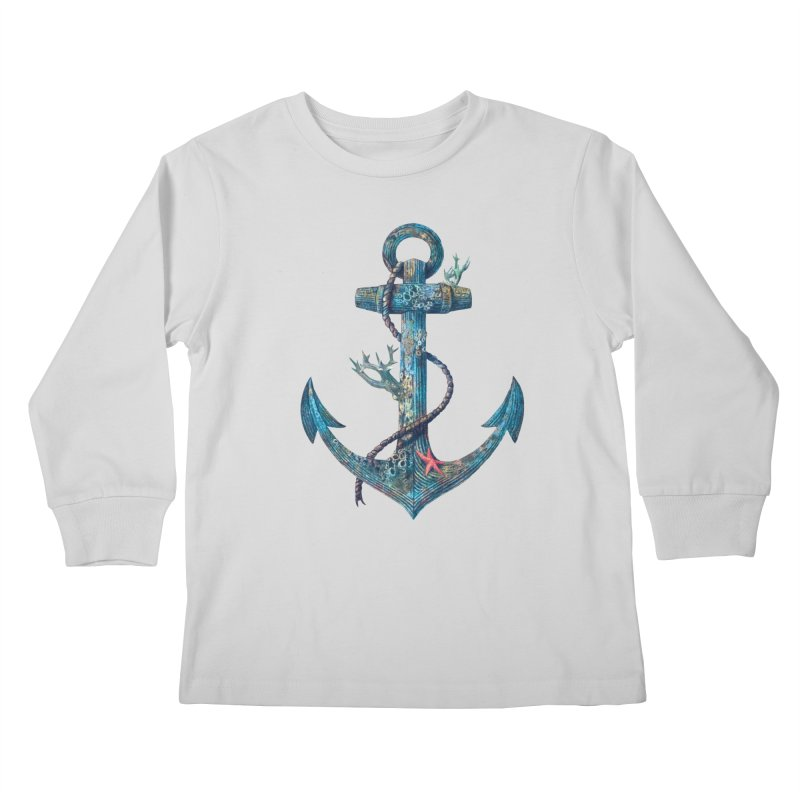 Lost at Sea Kids Longsleeve T-Shirt by terryfan