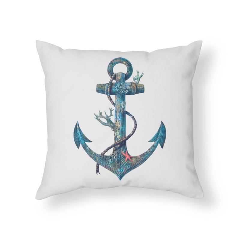 Lost at Sea in Throw Pillow by terryfan