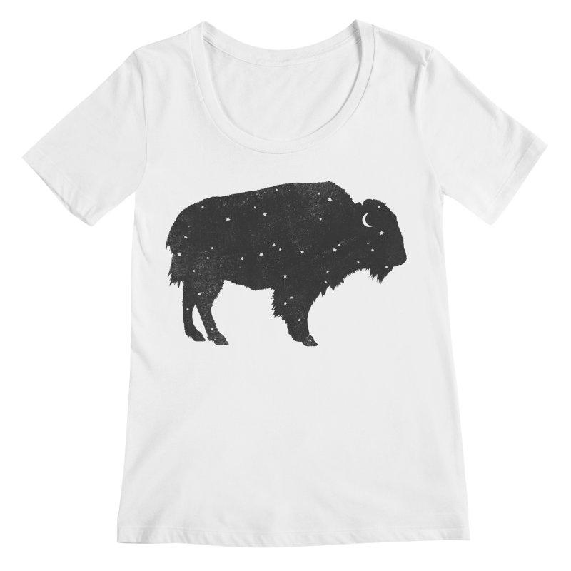 Mystic Buffalo Women's Scoopneck by terryfan