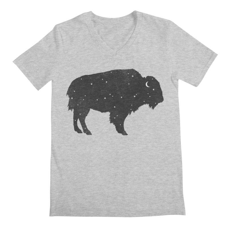 Mystic Buffalo Men's V-Neck by terryfan