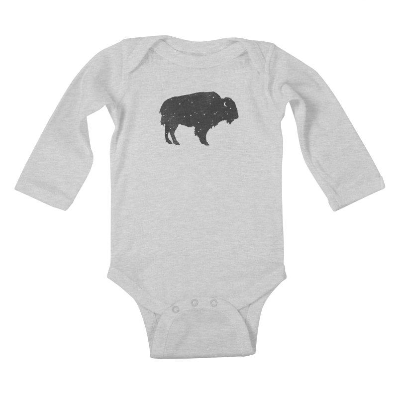 Mystic Buffalo Kids Baby Longsleeve Bodysuit by terryfan