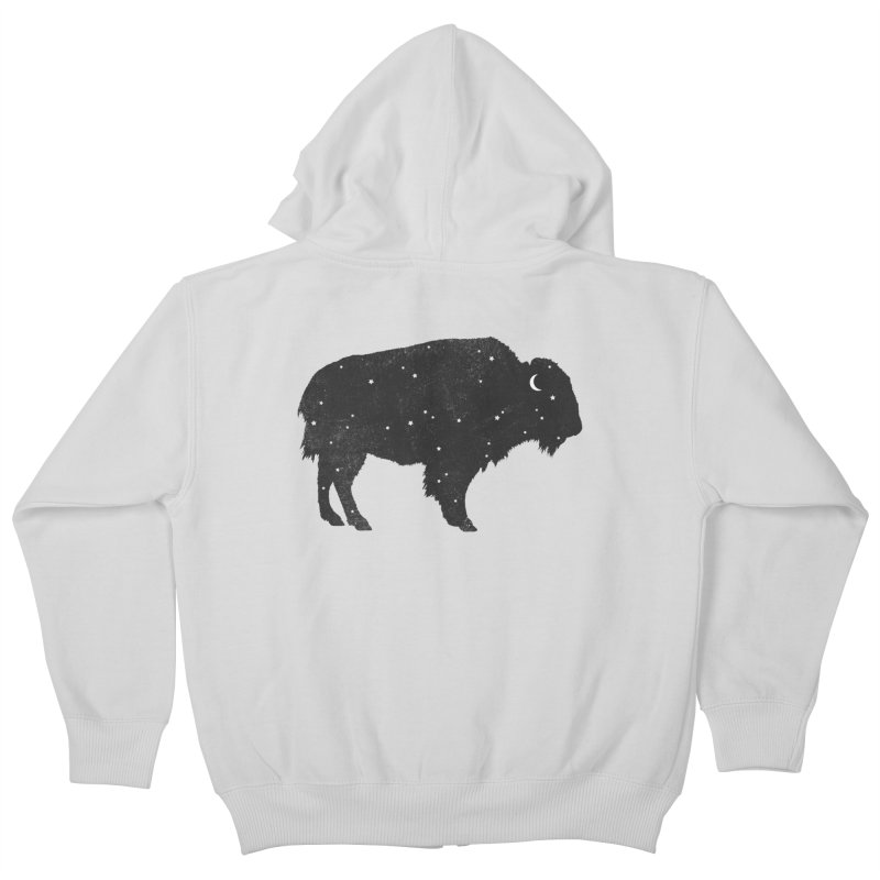 Mystic Buffalo Kids Zip-Up Hoody by terryfan