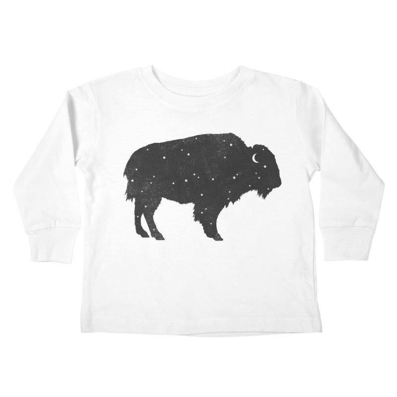 Mystic Buffalo Kids Toddler Longsleeve T-Shirt by terryfan