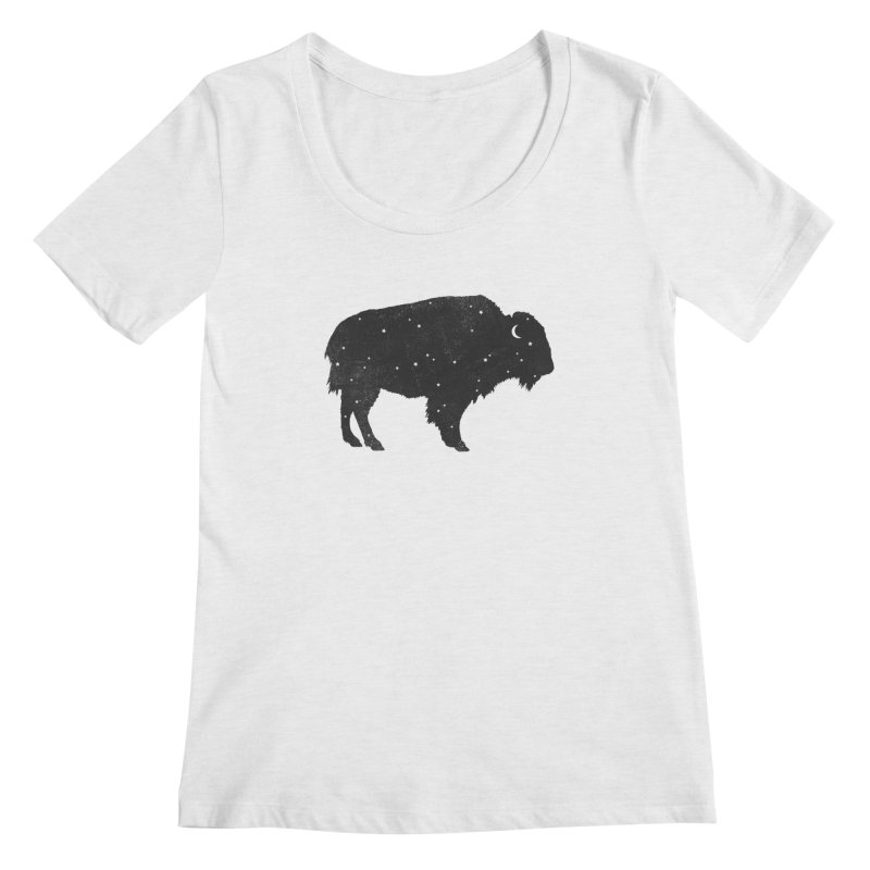 Mystic Buffalo Women's Scoopneck by terryfan