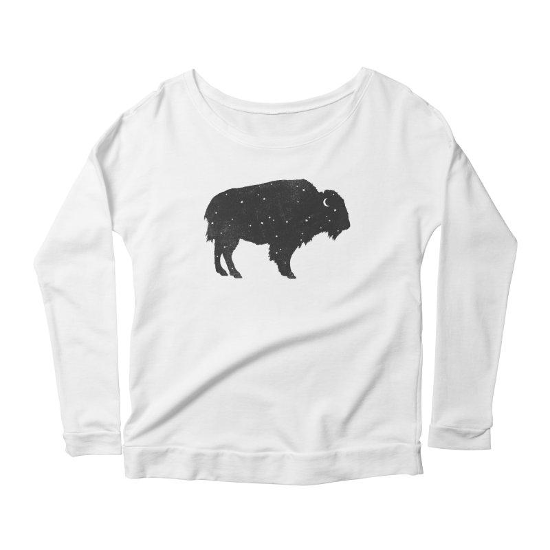 Mystic Buffalo Women's Scoop Neck Longsleeve T-Shirt by terryfan