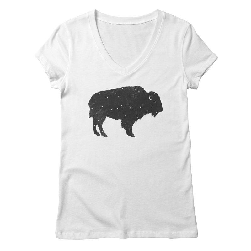 Mystic Buffalo Women's V-Neck by terryfan
