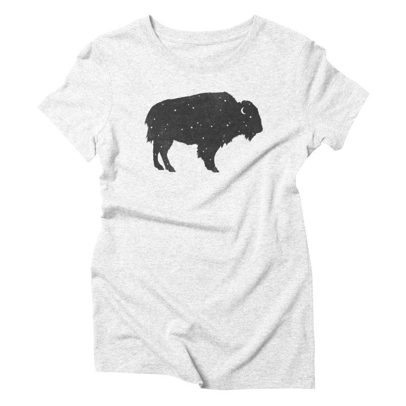 Mystic Buffalo Women's Triblend T-shirt by terryfan