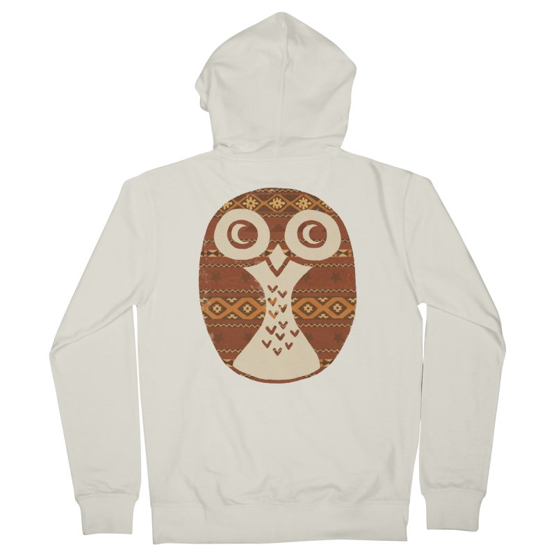 Navajo Owl Men's Zip-Up Hoody by terryfan