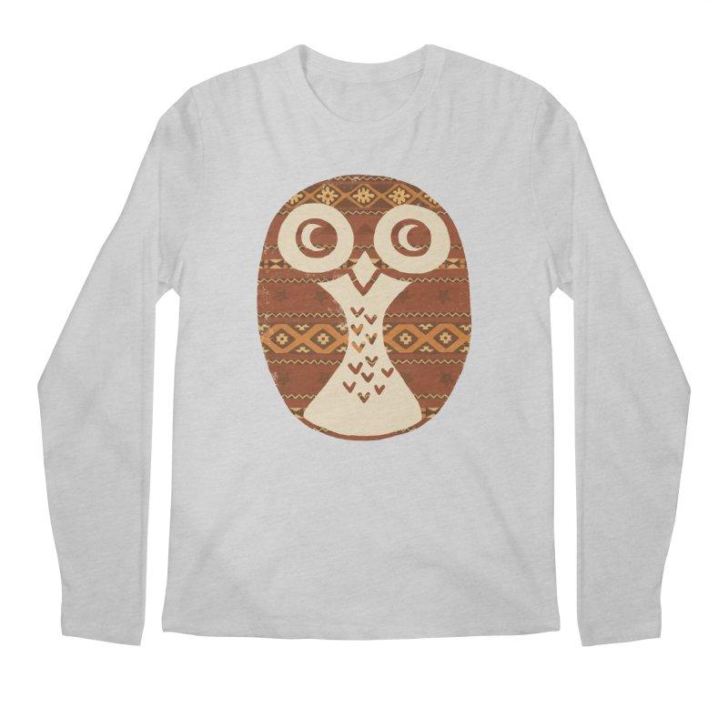 Navajo Owl Men's Longsleeve T-Shirt by terryfan