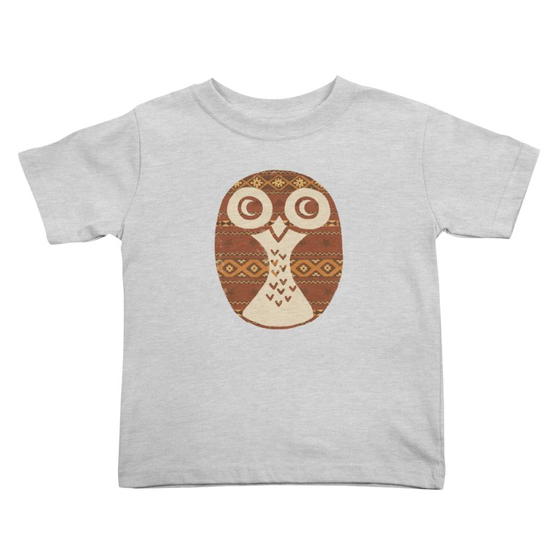 Navajo Owl Kids Toddler T-Shirt by terryfan