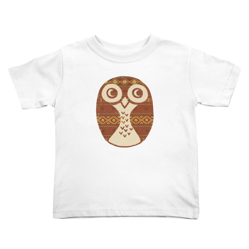Navajo Owl Kids Toddler T-Shirt by terryfan