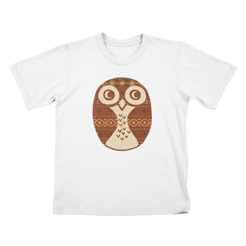 Navajo Owl Kids T-shirt by terryfan