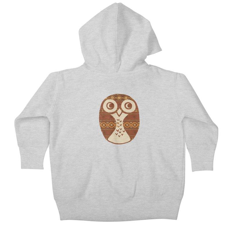 Navajo Owl Kids Baby Zip-Up Hoody by terryfan