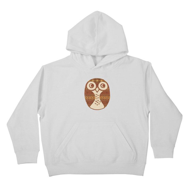 Navajo Owl Kids Pullover Hoody by terryfan