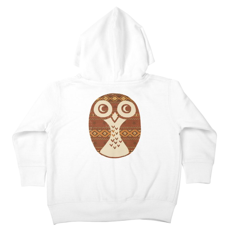 Navajo Owl Kids Toddler Zip-Up Hoody by terryfan