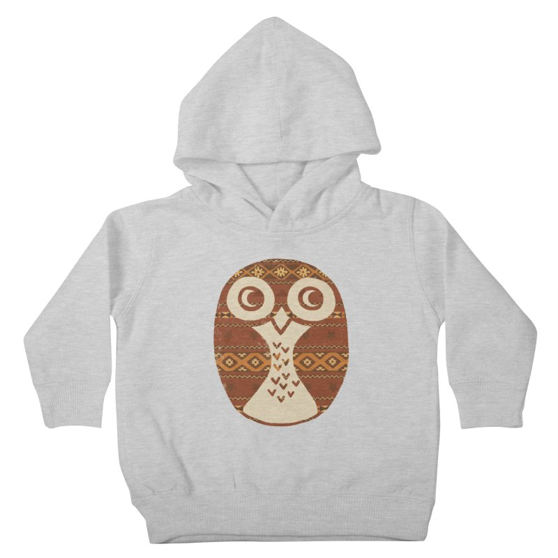 Navajo Owl Kids Toddler Pullover Hoody by terryfan