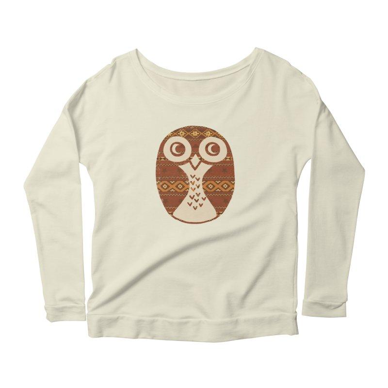 Navajo Owl Women's Scoop Neck Longsleeve T-Shirt by terryfan