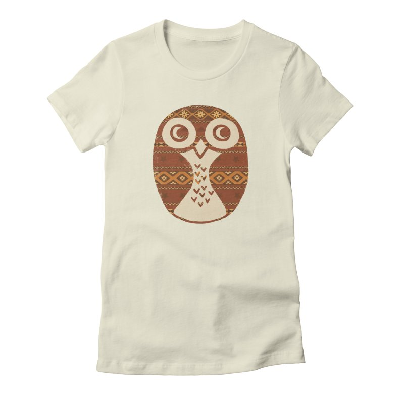Navajo Owl Women's Fitted T-Shirt by terryfan