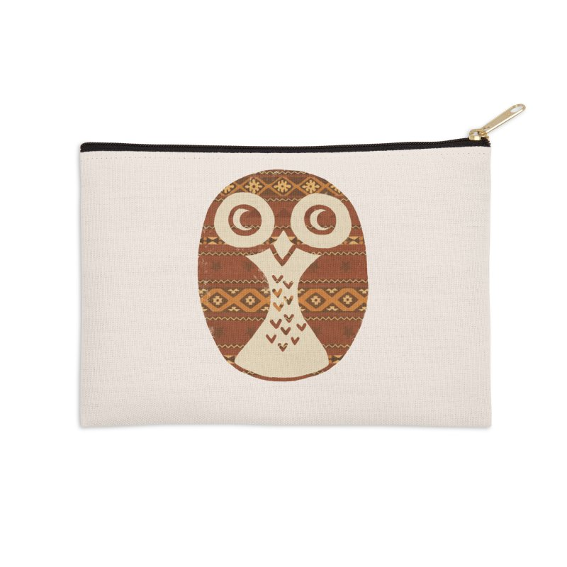 Navajo Owl Accessories Zip Pouch by terryfan